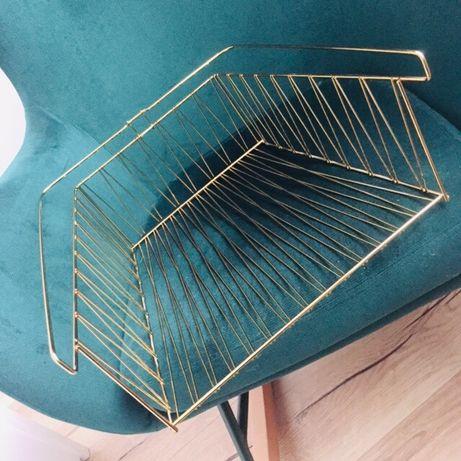 Złoty kosz wkład półka do regału Kallax Ikea
