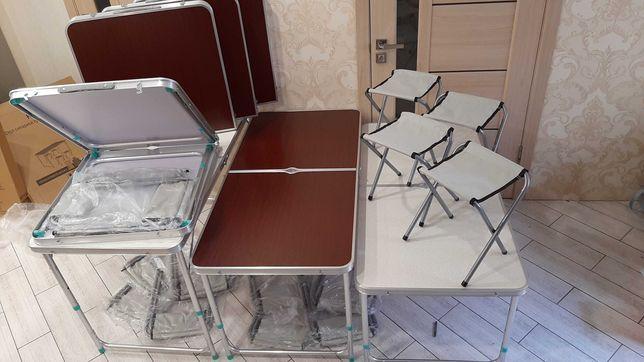 Стол для пикника. Туристический  +4 стула Стіл складний туристичний