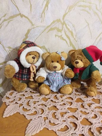 ЛОТ Мягкая игрушка медвежонок, медведь, мишка винтажный, 25 см