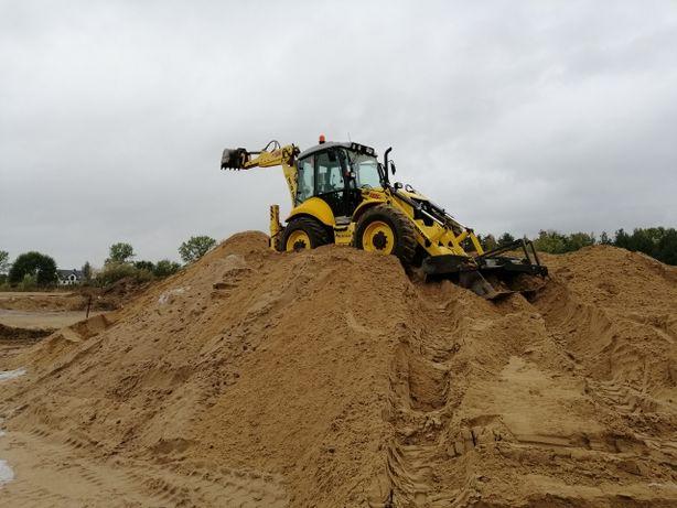 Usługi koparka-ładowarką, roboty ziemne, transport piach, ziemia, itp.
