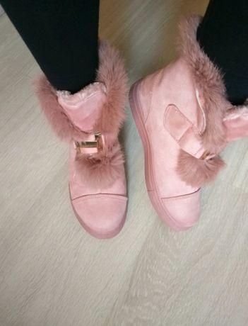 Buty zimowe różowe