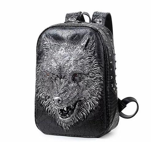 Рюкзак с волком . Новый , из экокожи ( США )