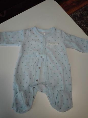 Śpiochy pajac piżama z weluru dziecięce Nowe