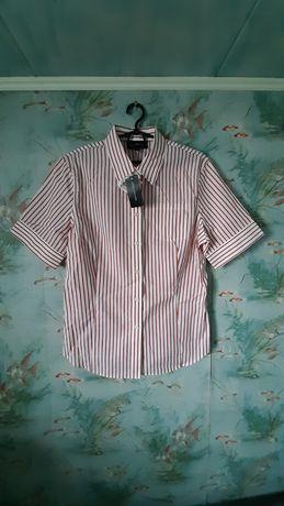 Новая блузка. Женская рубашка с коротким рукавом.
