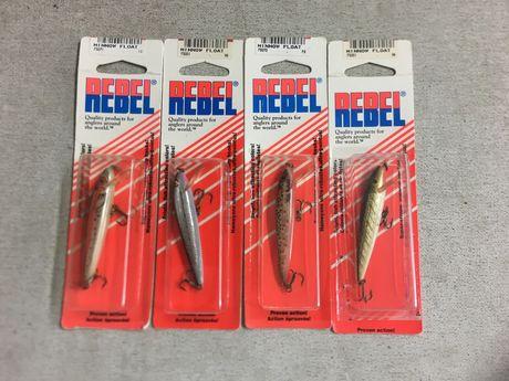 PESCA conjunto de 4 amostras de pesca marca rebel modelo minnow