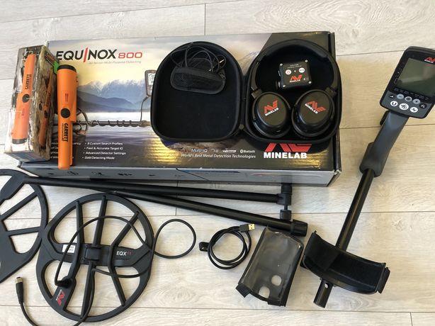 Minelab Equinox 800 +Garrett Метолошукач Металлоискатель пінпоінтер
