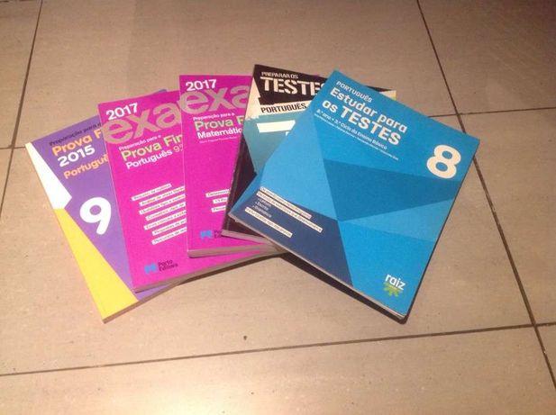 Livros de preparação para testes e exames, 7°, 8° e 9° anos