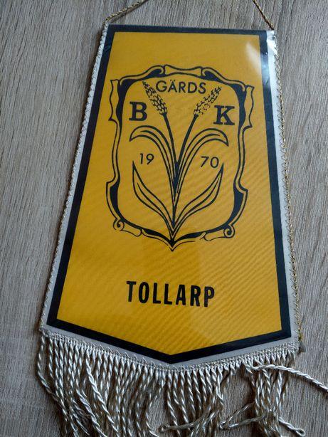 Proporczyk Gards Brottarklub Tollarp Szwecja sekcja zapasnicza