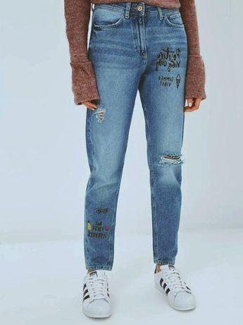 Рваные джинсы с высокой талией Colin's