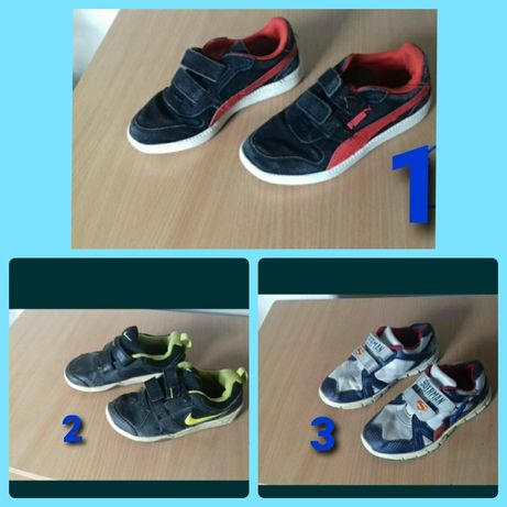 Adidasy chłopięce firmy Nike, Adidas, Puma, 25, 27, 30, 31