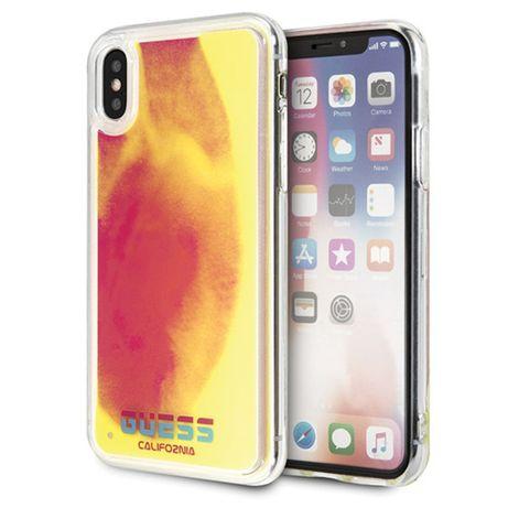 Etui GUESS - California Glow in the dark Hard Case Iphone X/XS Różowy