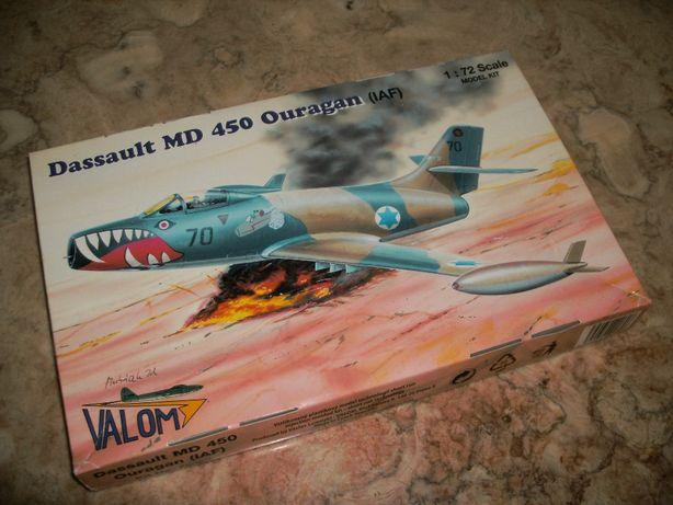 Kit Modelismo avião Dassault MD 450 Ouragon da Valom à escala 1/72