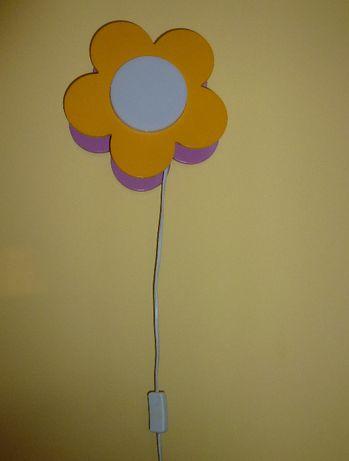 Kinkiet dziecięcy kwiatek iridia massive