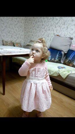 Платье на девочку теплое (на 2 года)