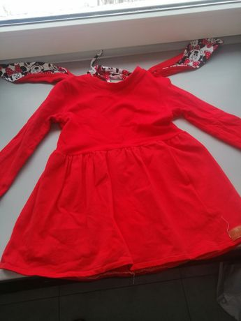 Sukienka czerwona myszka minnie