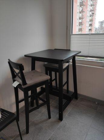 stolik barowy ikea norraker plus krzesła
