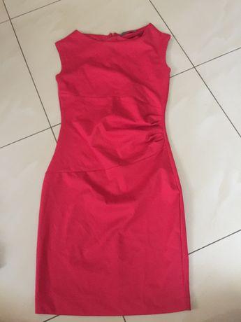 sukienka top secret czerwona elegancka