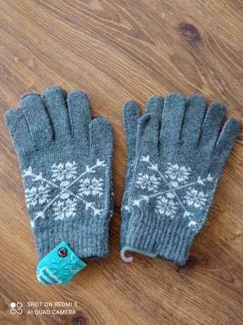 Rękawiczki damskie 80% wełny, ostatnie pary