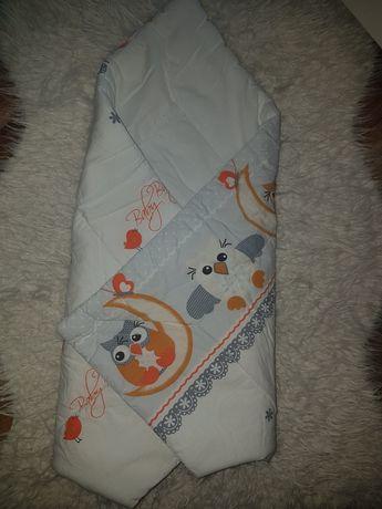 Becik niemowlęcy w sowy