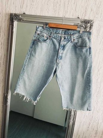 levi's szorty spodenki jeansowe niebieskie męskie W36 XL