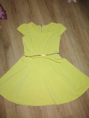 Sukienka łagodny odcień żółtego