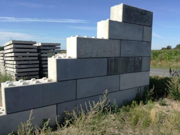Bloczki betonowe klocki zasieki silosy płyty drogowe transp montaż zuh
