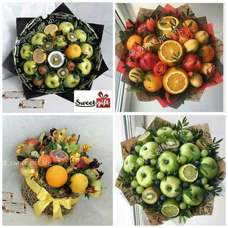 Оригинальный подарок, съедобный букет,фруктовый букет,букет из фруктов