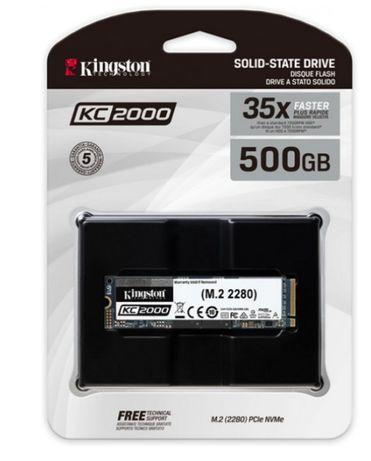 Kingston KC2000 500GB NVMe M.2 2280 PCIe 3.0 x4 3D NAND TLC