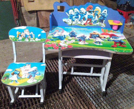 Biurko dla dziecka regulowane SMERFY