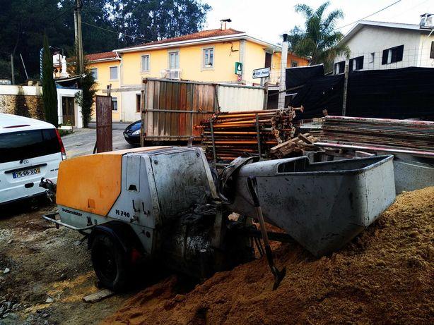 Aluguer máquinas para enchimento e betonilhas