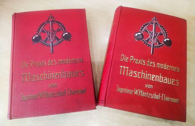 Niemieckie książki antyk twarda oprawa z 1921 i 1922 cena za zestaw