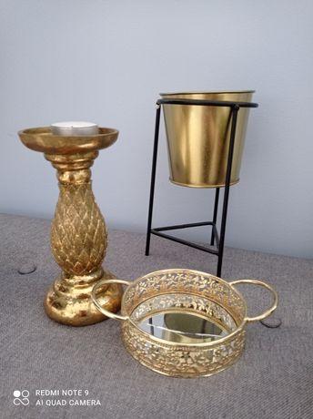 Sprzedam zestaw złotych elementów dekoracyjnych