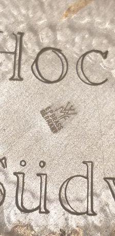 Stary,srebrny talerz firmy WMF