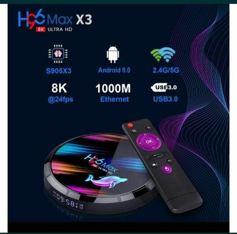 SmartTV H96 Max X3 4gb/128гб СмартТв ПриставкаАндроїдplusX96+x3probox2