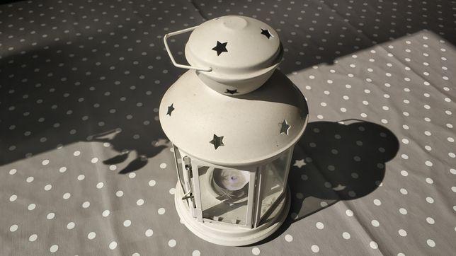 Lanterna p/vela, interior/exterior branco, 21 cm