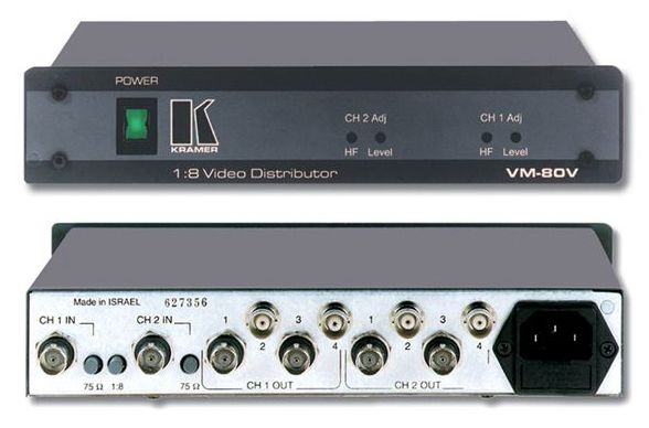Distribuidor de video kramer VM-80V