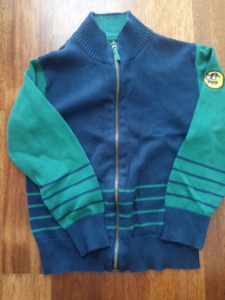 Rozpinana bluza w rozmiarze 116