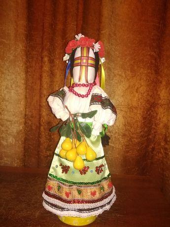Сувенир, Оберег, Тряпичная Кукла Мотанка украинская, hand made