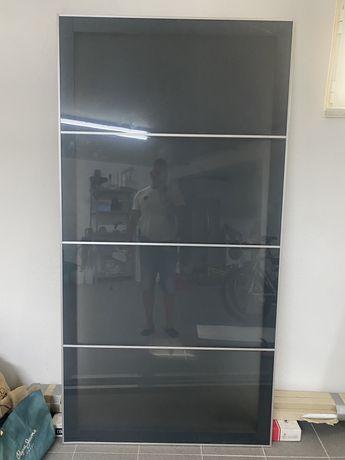 Portas em vidro de  correr roupeiro IKEA