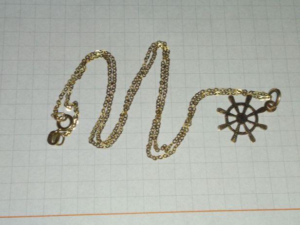 łańcuszek z zawieszką próba złota 583