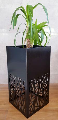 Stojak na kwiaty loft stalowy ażurowy