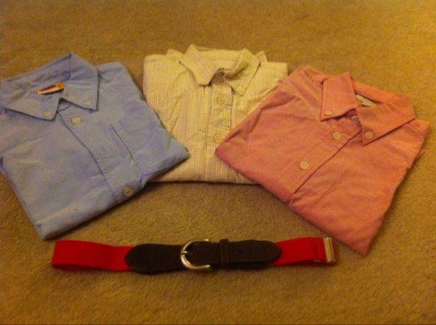 3 Camisas Oxford + 1 cinto