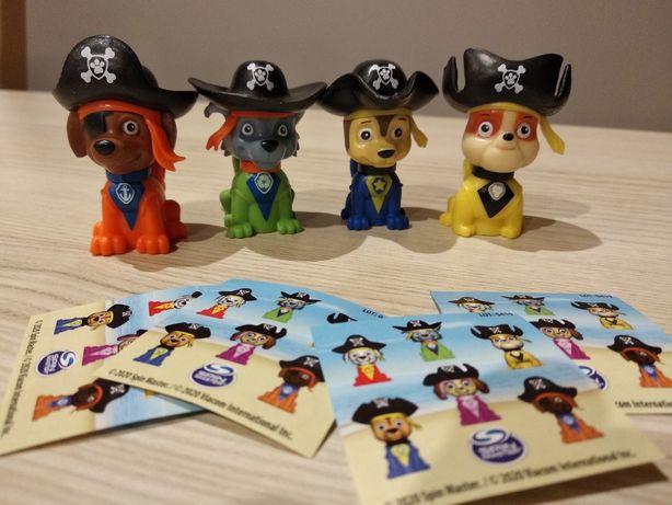 Nowe figurki pieski Psi Patrol - zestaw Rubble, Rocky, Chase i Zuma