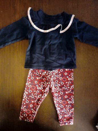 Legging+camisola c/gola zippy 6-9m