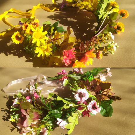 Цветочный венок из искусственных цветов
