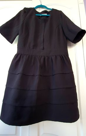 Czarna sukienka koktajlowa r.40