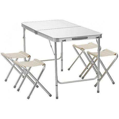 Набор раскладной стол для пикника+4 стула! Стол Чемоданы компактный