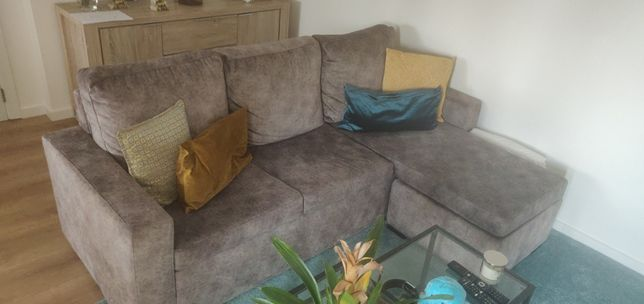 Sofá 3 lugares com chaise lounge