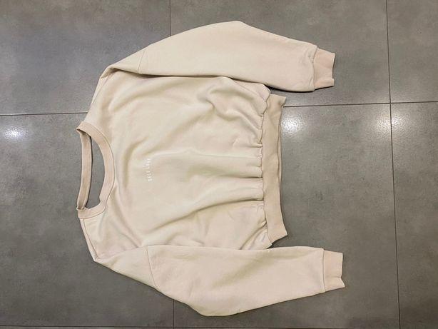 Bluza Self Love beżowa odkryte plecy rozmiar 40