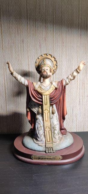 Estatueta S Cipriano em marfinite-Louças Falcão;Alguns toques;23 cm